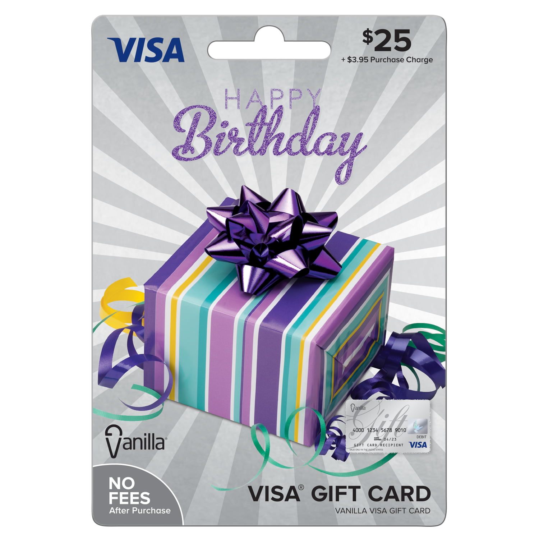 Vanilla Visa $6 Birthday Party Box Gift Card - Walmart.com