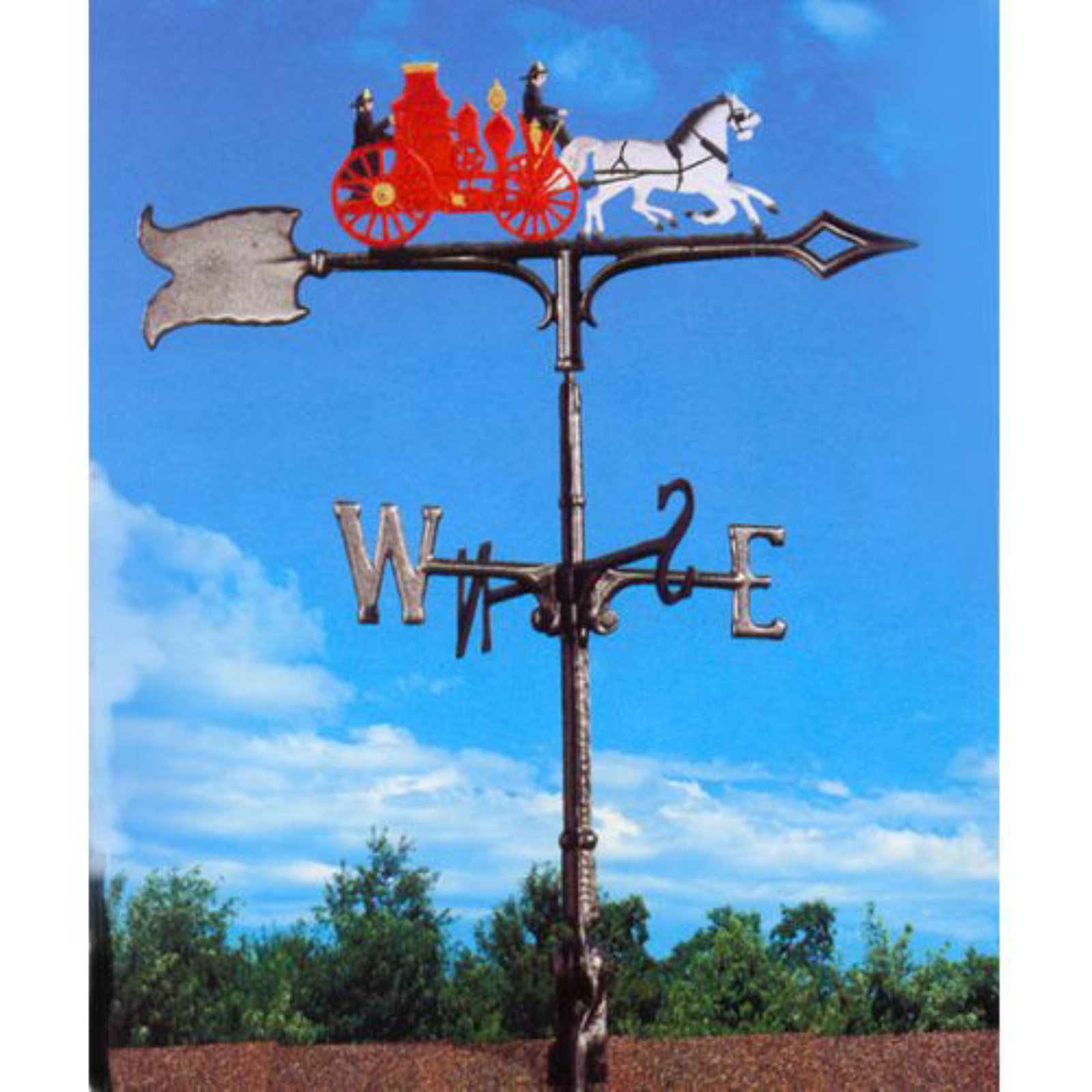 Painted Fire Wagon Weathervane