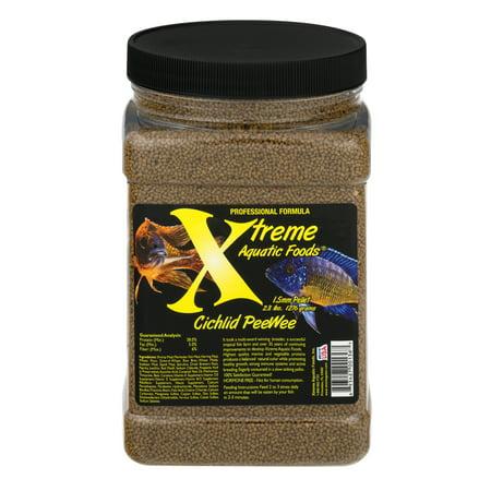Xtreme Aquatic Cichlid PeeWee Fish Food Pellets, 45 (Fish Aquatic Pellets)