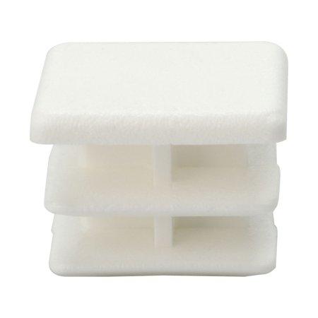 15 x 15mm Plastic Square Ribbed Tube Inserts Cap Furniture Legs Floor Protector - image 7 of 7