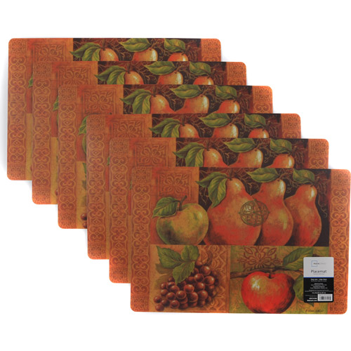 Mainstays Fruit Foam Placemat, Set of 6