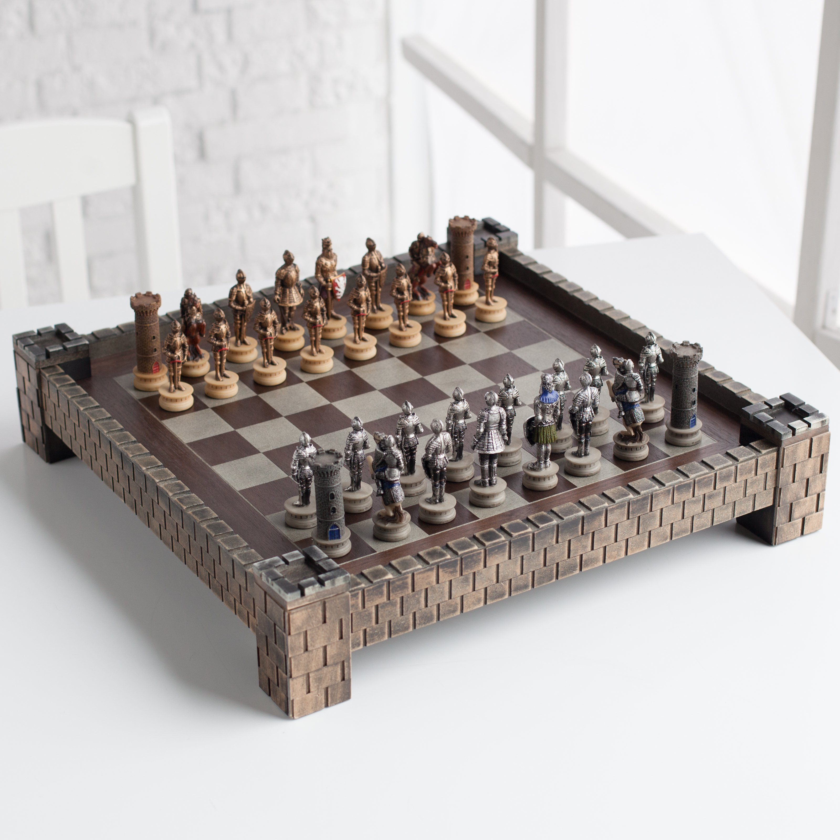 WorldWise Imports Medieval Times Fortress Chess Set