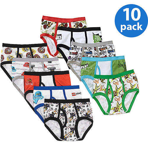 Boys' Licensed 5 Piece Underwear Set, 2 Pack of Your Choice (Available in 9 Characters)