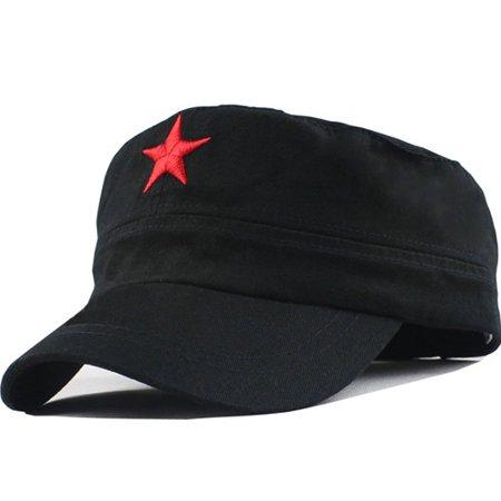 Che Guevara Black Cap Cuban Revolution Red Star Cuba Leader Military Costume