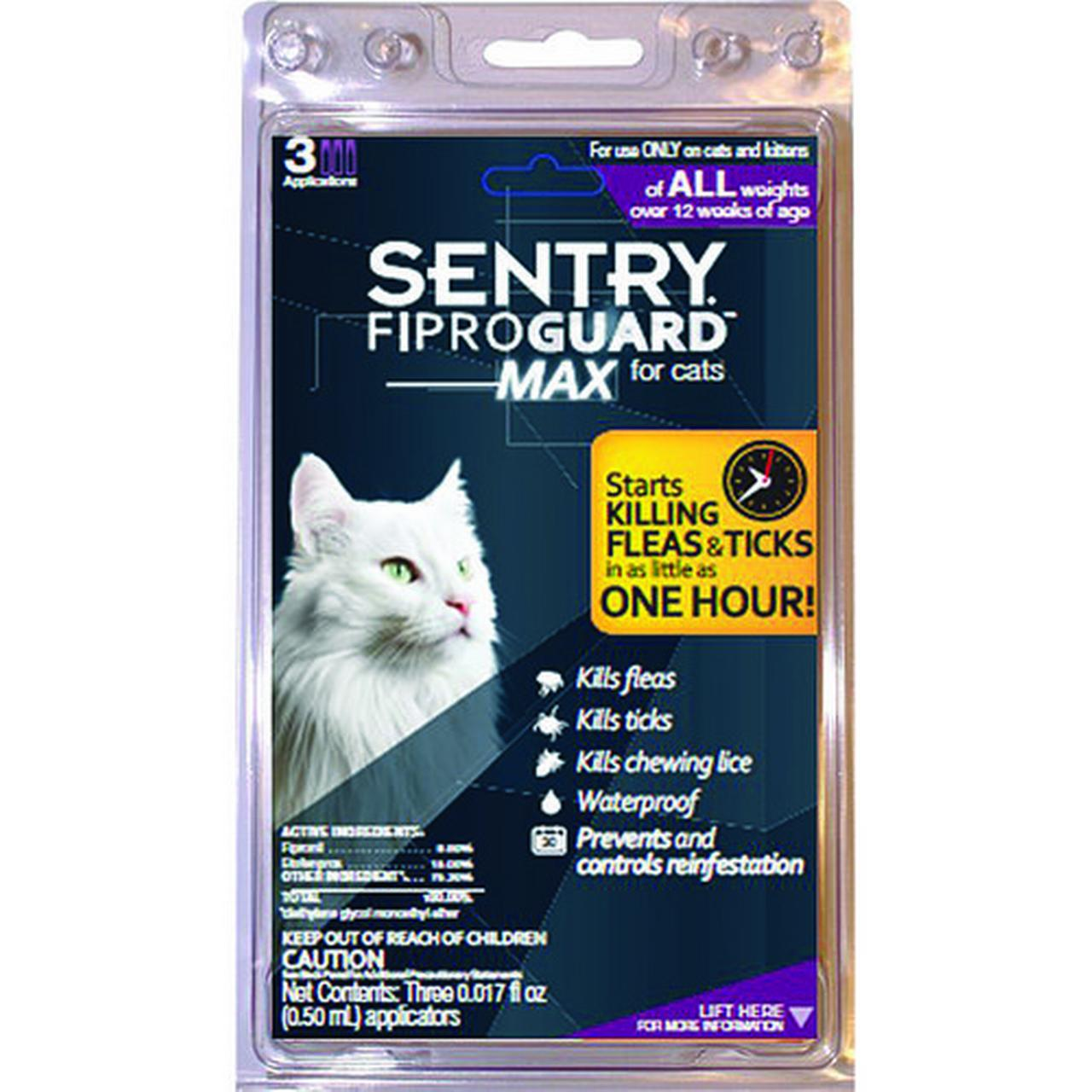 Sentry Fiproguard Max for Cats All Weights Over 12 Weeks Old Multi-Colored