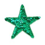 """Expo Int'l 3 1/2"""" Star Sequin Applique"""
