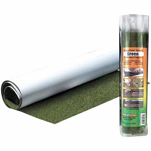 """Woodland Scenics Green Grass ReadyGrass, 1 Sheet per pkg, 10.75"""" x 16.25"""""""