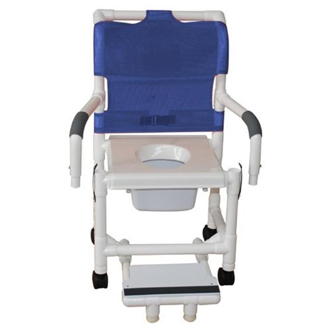 MJM International 118-3TW-DDA-SF-SQ-PAIL Shower Chair 18 in.