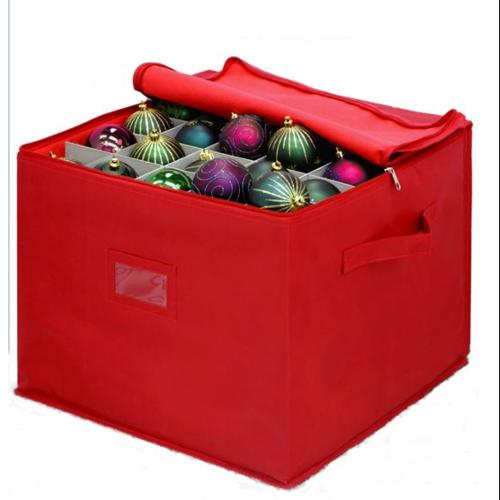 Red 3 Tray Ornament Storage