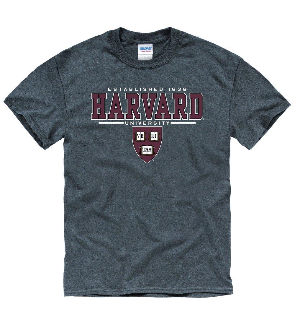Harvard University Men's T-Shirt-Charcoal