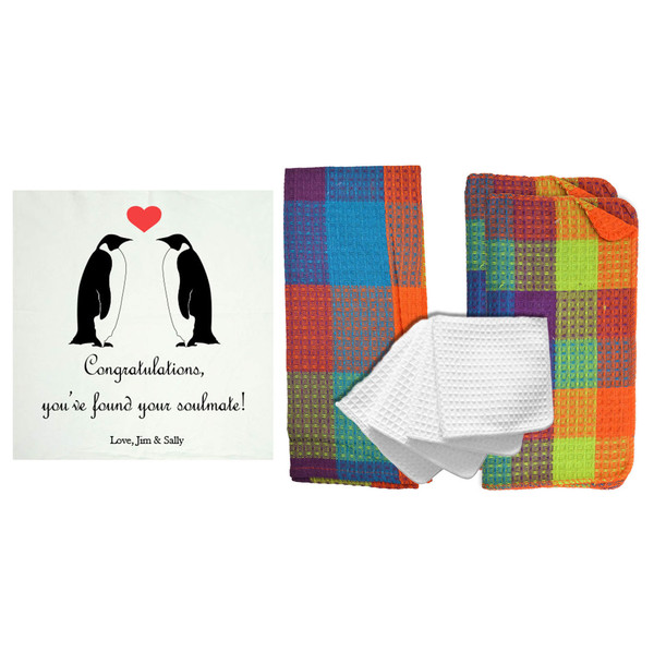 """Personalized """"You've Found Your Soulmate"""" 8 Piece Kitchen Towel Set"""