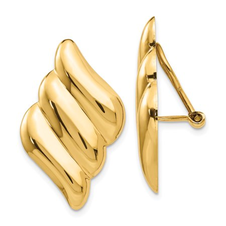 14K Yellow Gold Non-pierced Fancy Earrings - image 1 de 2