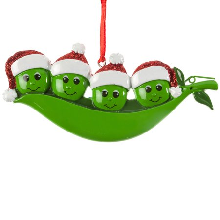 Peas in a Pod Ornament, Family of 4