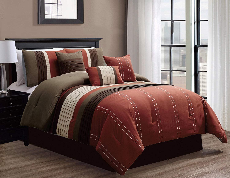 HGMart Bedding Comforter Set Bed In A Bag   7 Piece Luxury ...