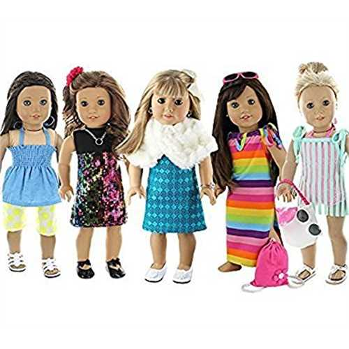 Doll Club of America 28 Piece Holiday Lot Fits 18-Inch American Girl Doll Clothes by Pzas