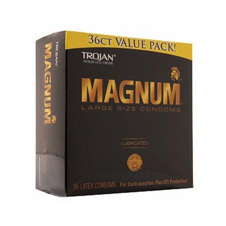 Smart Parts Barrel Condom - Trojan Magnum Lubricated Latex Condoms, Large Size - 36 Ea