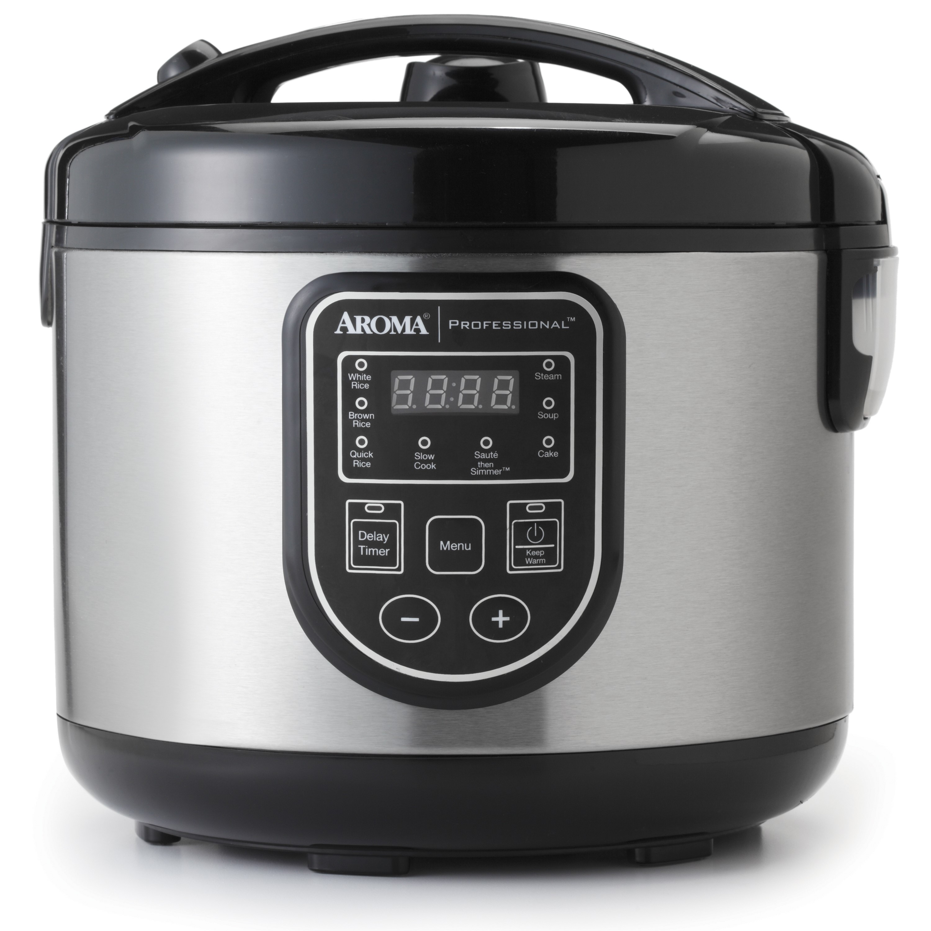 AROMA 16-cup (Cooked) Digital Rice Cooker, Slow Cooker and Food Steamer (ARC-988SB)