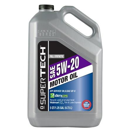 Super Tech Full Synthetic Oil  5W20  5 Qt