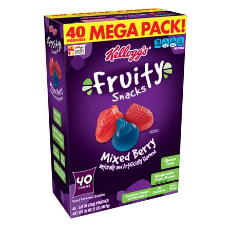 (75 count) Kellogg's Fruity Snacks Variety Pack Flavors: Cherry, Strawberry, Mixed Berry - 2.5 -
