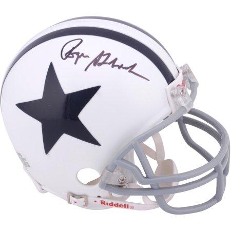 Roger Staubach Dallas Cowboys Autographed 2-Bar Riddell Throwback Mini Helmet - Fanatics Authentic Certified