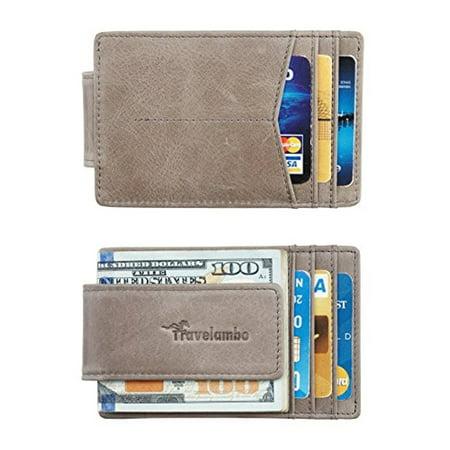 cfa7ae763af4 Travelambo Money Clip Front Pocket Wallet Slim Minimalist Wallet ...