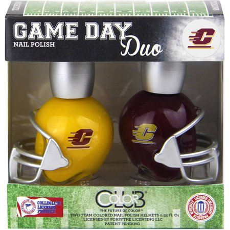 Color Club Game Day Duo Nail Polish, Central Michigan, .55 fl oz, 2