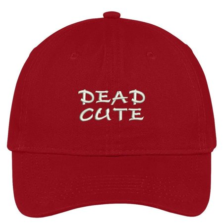 Trendy Apparel Shop Dead Cute Embroidered 100% Quality Brushed Cotton Baseball  Cap - Black 7c561838825