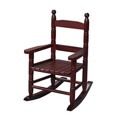 Children S Slat Rocking Chair Finish Cherry Walmart Com