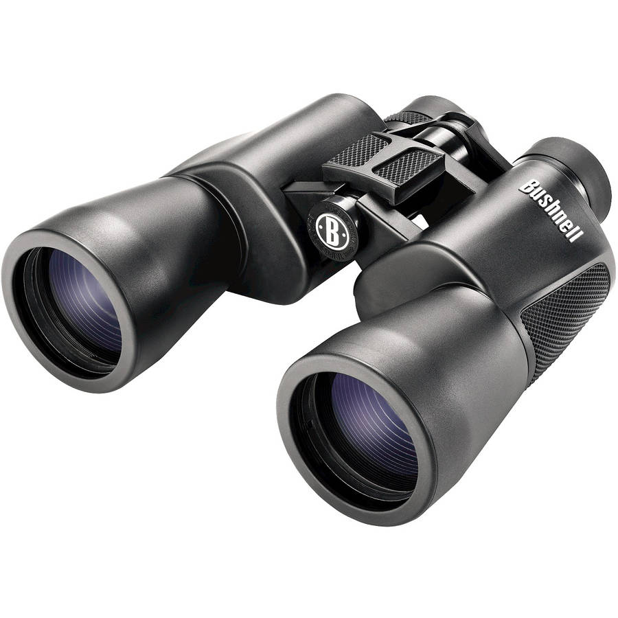 Bushnell PowerView Binocular, 10X50mm-Porro Prism-Clam, Black by Bushnell Outdoor Products
