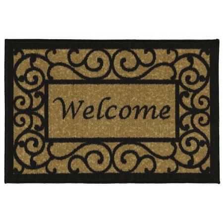 High Quality Door Mat (Ottomanson Welcome Non-Slip Floral Indoor Door Mat )