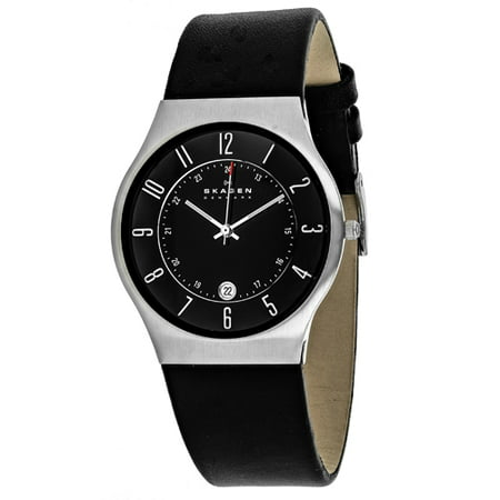 Skagen Men's Slimline Watch Japanese Quartz Mineral Crystal 233XXLSLB