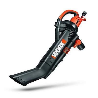 Worx WG509 TRIVAC 12 Amp 3-In-1 Variable-Speed Mulcher Bl...
