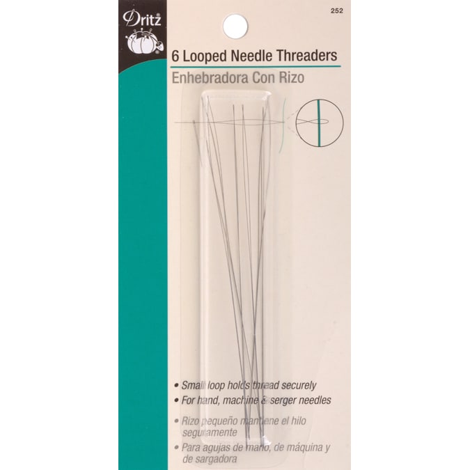 For Most Hand /& Machine Needles Dritz 35 Pack Flexi Needle Threaders