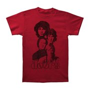 Doors Men's Totem 30/1 Enzyme Wash Slim Fit T-shirt Small Red