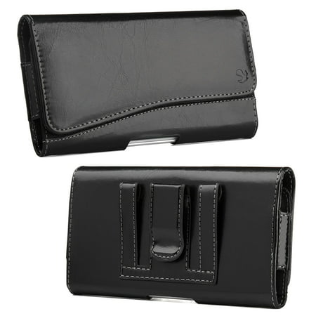 Insten Horizontal Pouch Cover Leather Protective Case For HTC One M7 -