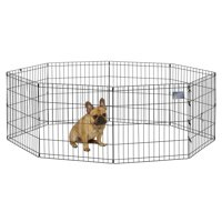 "MidWest Foldable Metal Exercise Pet Playpen without Door, 24""W x 48""H"
