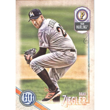 2018 Topps Gypsy Queen #228 Brad Ziegler Miami Marlins Baseball Card - *GOTBASEBALLCARDS