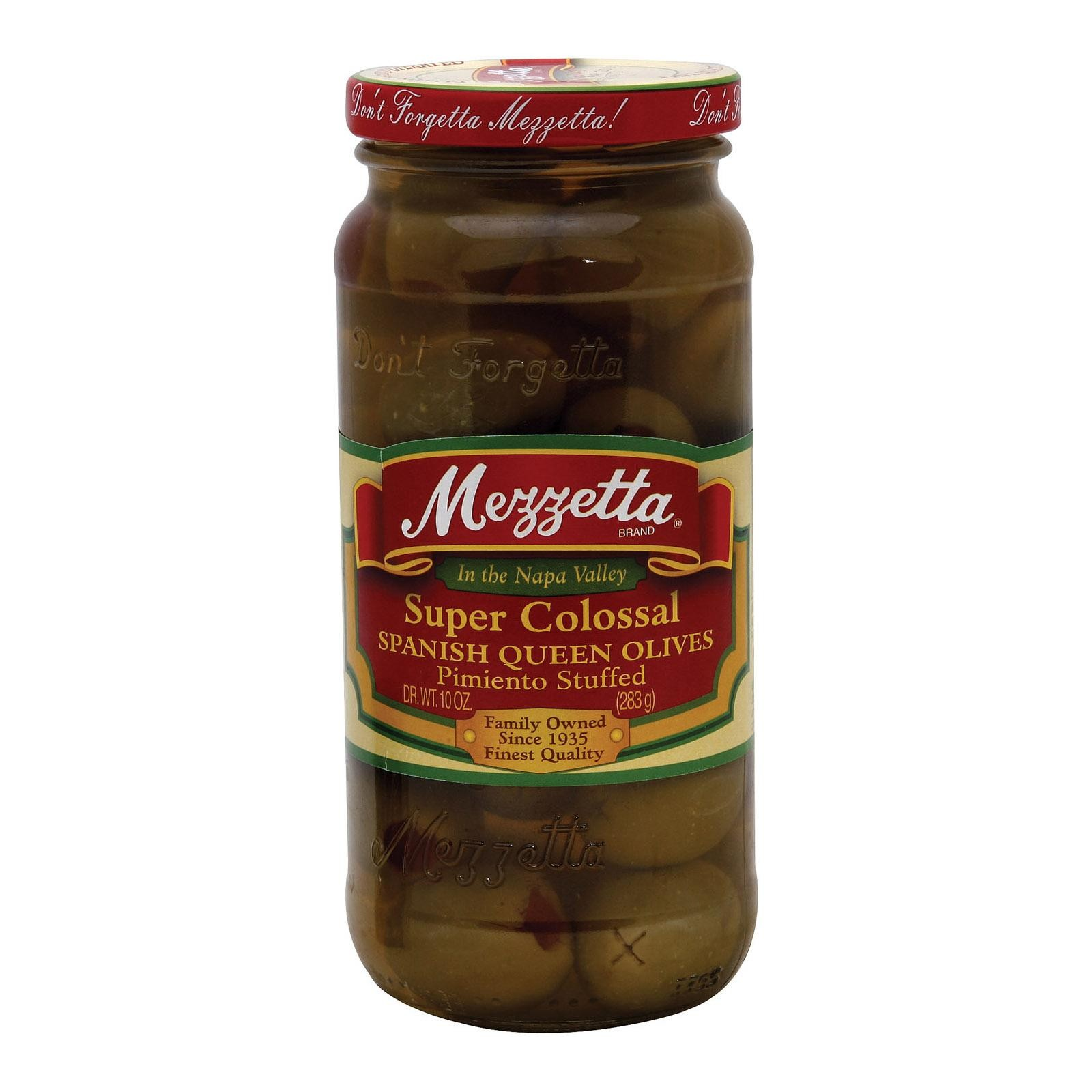 Mezzetta Super Colossal Pimiento Stuffed Spanish Queen Olives - Pack of 6 - 10 Oz.