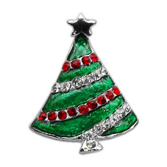 Holiday 10mm Slider Charms Christmas Tree .