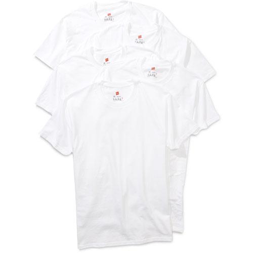 Hanes - Men's Crew Tee Shirts, 5-Pack