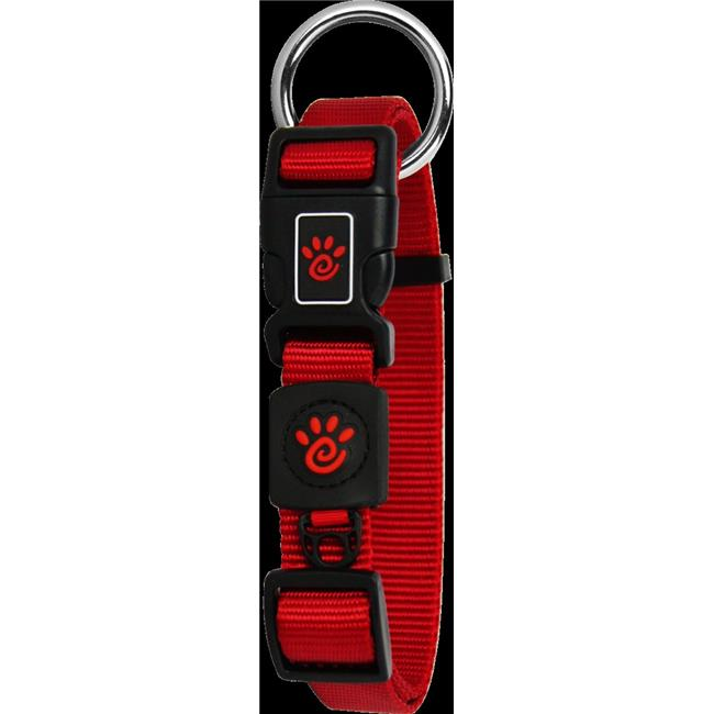 Doco DCS006-03S Signature O-Ring Collar Leash, Red - Small