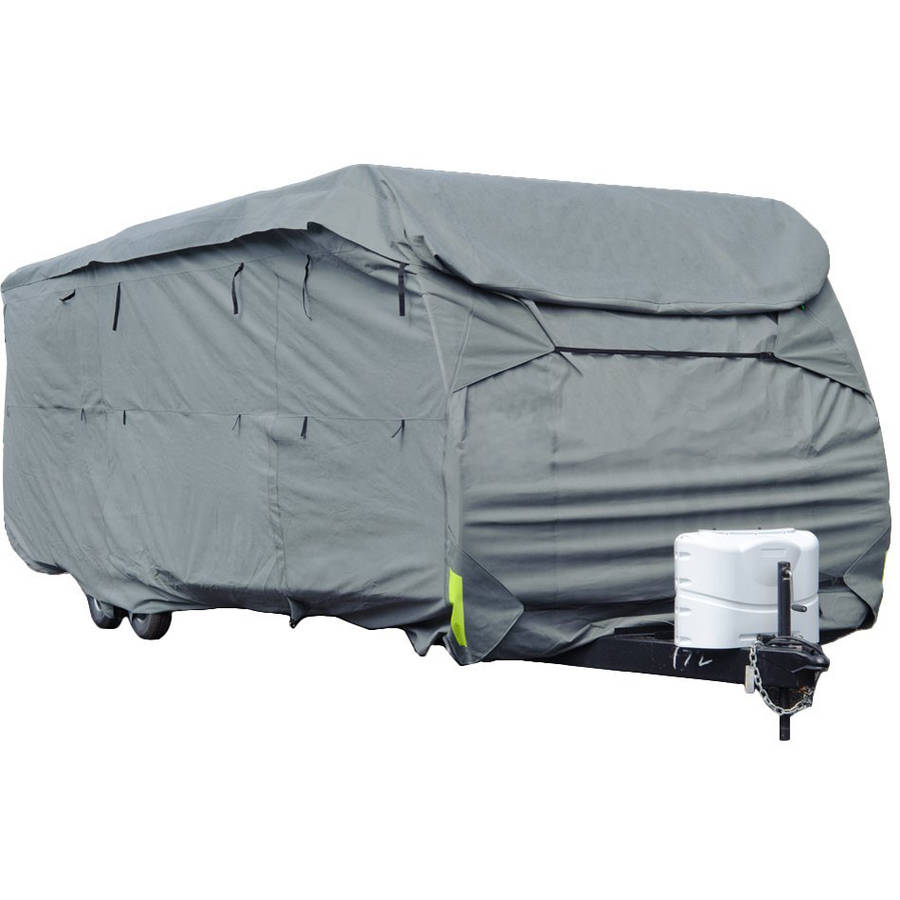 Budge Standard Toy Hauler / Travel Trailer Cover, Water-Resistant, Grey Polypropylene