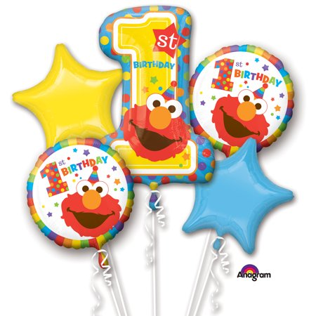 Sesame Street 1st Birthday Balloon Bouquet - First Birthday Balloon