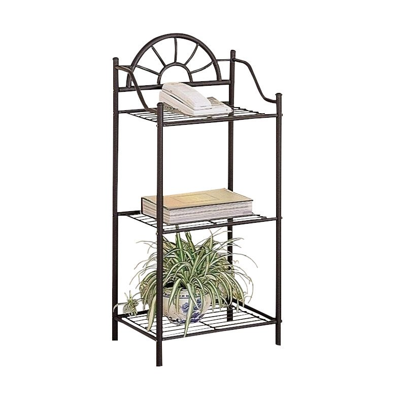 Bowery Hill Sunburst Metal Accent Table in Black by Bowery Hill