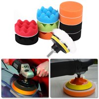 Fugacal 12Pcs 3 Inch Sponge Buffing Polishing Pad Kit for Car Polisher with Drill Adapter, Car Polisher, Polishing Buffing Pad