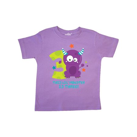 Monster 3rd Birthday Toddler - Little Pink Monster