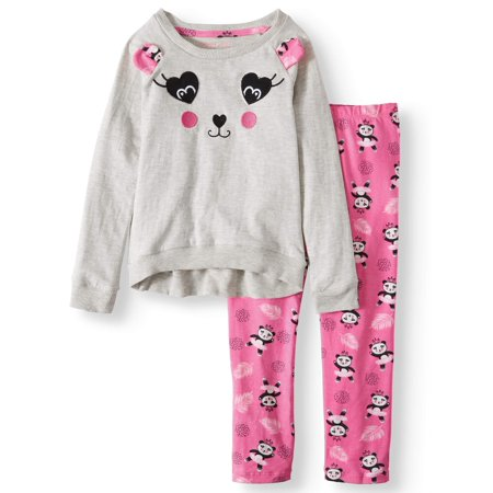 Colette Lilly Embroidered Panda Tunic and Printed Legging, 2-Piece Outfit Set (Little Girls)](Little Girls Halloween Outfits)