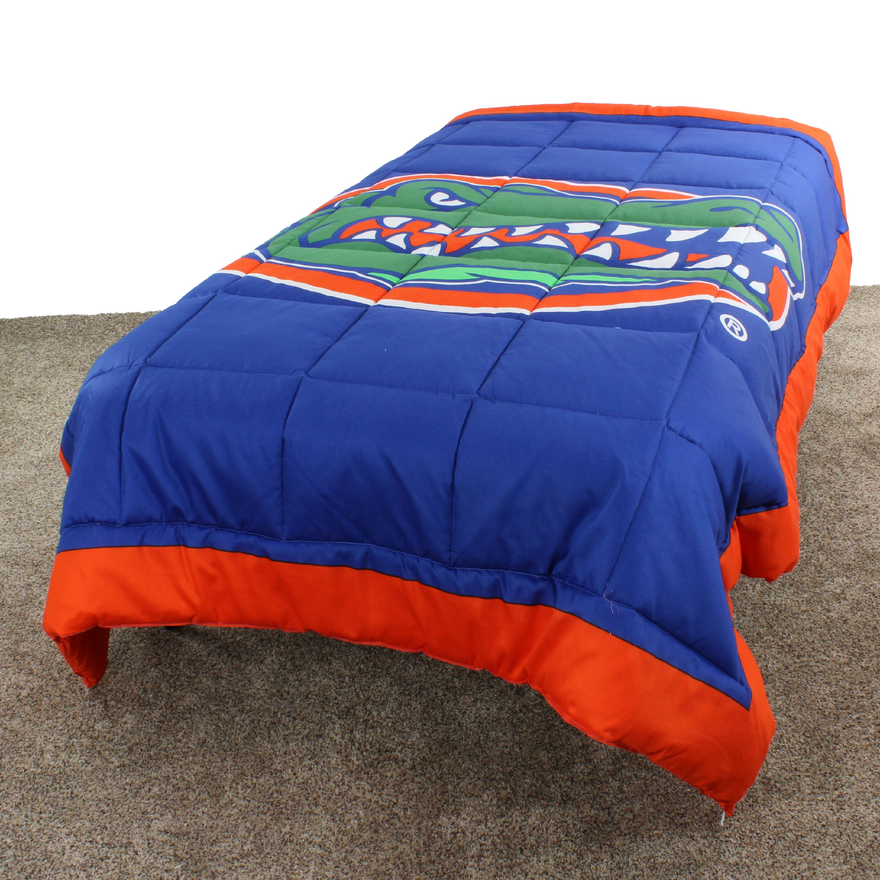 "Florida Gators 2 Sided Reversible Comforter, 100% Cotton Sateen, 80"" x 90"", Full"