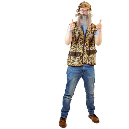 Duck Hunter Costume Halloween (Duck Dynasty Uncle Si Adult Halloween)