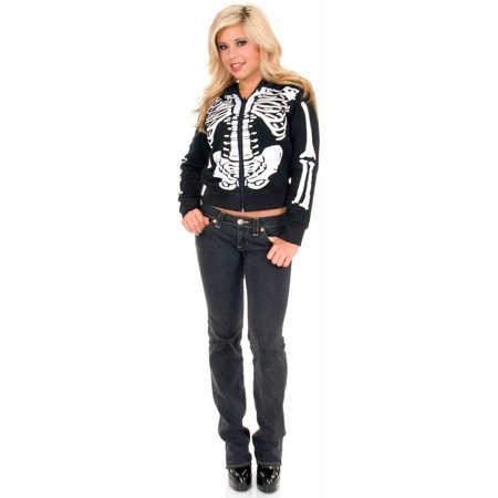 Skeleton Hoodie Women's Adult Halloween Costume](Cute Skeleton Halloween Costumes)